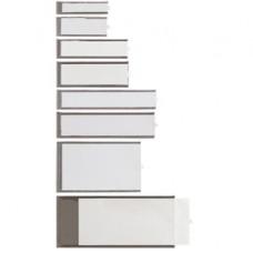 Portaetichette adesive Ies B3 - 24 x 124 mm - grigio - Sei Rota - conf. 6 pezzi