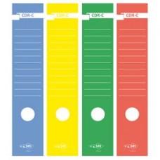 Copridorso CDR C - carta autoadesiva - 7 x 34,5 cm - giallo - Sei Rota - conf. 10 pezzi