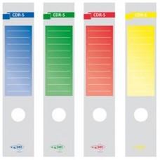 Copridorso CDR S - carta autoadesiva - 7 x 34,5 cm - blu - Sei Rota - conf. 10 pezzi
