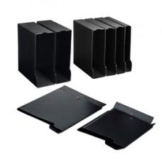 Custodia per raccoglitori 30 - dorso 4,5 cm -  26,5 x 31,5 cm - nero - Sei rota