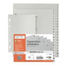 Separatore alfabetico A/Z Record R - PPL - 24,5 x 30 cm - A4 maxi - grigio - Sei Rota
