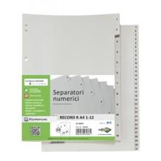 Separatore numerico 1/12 Record R - PPL - 21 x 29.7 cm - A4 - Sei Rota
