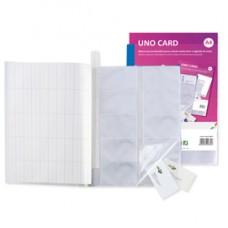 Porta biglietti da visita Uno Card - 21 x 29,7 cm - 10 buste con 10 tasche ciascuna - blu - Sei Rota