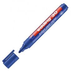 Marcatore 30 a base d'acqua - punta tonda - 1,5 - 3 mm  - blu - Edding