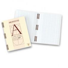Blocco Architetto - spiralato - 22 x 29,7 cm - 100 gr - 40 fogli - bianco - Pigna