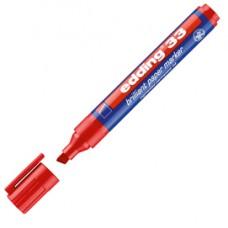 Marcatore 33 a base d'acqua - punta a scalpello da 1,0 a 5,0mm  - rosso - Edding