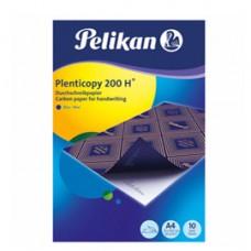 Carta da ricalco Plenticopy  200H  - 21x29,7 cm - blu - Pelikan - conf. 10 fogli