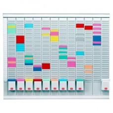 Professional Planner - 80x73x1,5 cm - 100 schede indice 1 bianche e 1000 schede indice 2 colorate incluse - Nobo