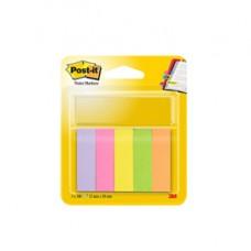 Segnapagina Post it  in carta - 15x50 mm - 5 colori Neon - Post it  - conf. 500 pezzi