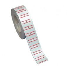 Etichette rigate permanenti per prezzatrici TOWA /MOTEX - 21x12 mm - bianco - rotolo da 1000 etichette
