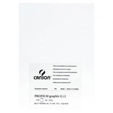 Lucidi autoadesivi G22 Profilm Graphic - stampanti laser e fotocopiatrici bianco/nero - 100 fogli A4 - Canson