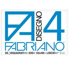 Album F4 - 33x48cm - 220gr - 20 fogli - liscio squadrato - Fabriano