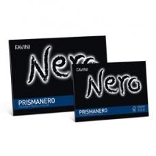 Album Prismanero - 24x33cm - 10 fogli - 128gr - monoruvido - Favini