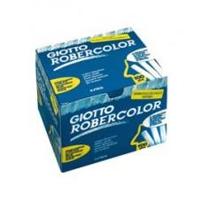 Gessetti Robercolor - lunghezza 80mm con diametro 10mm - bianco - Giotto - Scatola 100 gessetti tondi