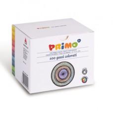 Gessetti tondi -  D 9x80 mm - colorati - Primo - Scatola 100 gessetti tondi