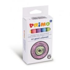 Gessetti tondi - D 9x80 mm - colorati - Primo - Scatola 10 gessetti tondi