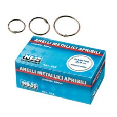 Anelli metallici - 2,8 cm - per rilegatura - Lebez - conf. 100 pezzi