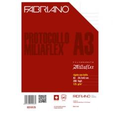 Foglio protocollo - A4 - uso bollo - 125 gr - Fabriano - conf. 200 pezzi