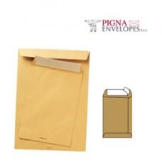 Busta a sacco avana - serie Multimail - strip adesivo - 250 x 353 mm - 100 gr - Pigna - conf. 500 pezzi