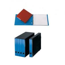 Portatabulati ad anelli - con custodia (singolo) - dorso 5 cm - 31,5x42 cm - azzurro - Cartotecnica del Garda