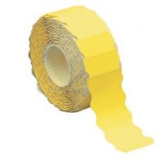 Etichetta a onda - permanente - 26x12 mm - giallo fluo - Markin - rotolo da 1500 etichette