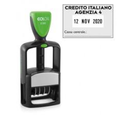 Timbro Datario Office S 360 - autoinchiostrante - personalizzabile - 30x45 mm - Colop