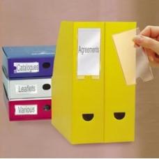 Portaetichette adesivo - PPL - 35x102 mm - trasparente - 3L - conf.12 pezzi