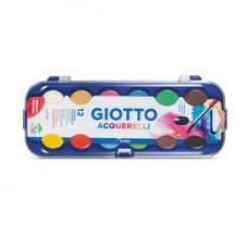 Pastiglie Acquerelli - D 30mm - colori assortiti - Giotto - astuccio da 12 pastiglie