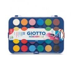 Pastiglie Acquerelli - D 30mm  - colori assortiti - Giotto - astuccio 24 pastiglie