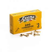 Fermacampioni ottonati - lunghezza 17 mm - n. 3 - Leone - conf. 100 pezzi