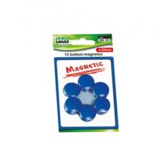 Bottoni magnetici - blu - diametro 20 mm - Lebez - blister 12 pezzi