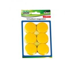 Bottoni magnetici - rosso - diametro 40 mm - Lebez - blister 12 pezzi