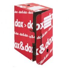 Scatola archivio DoxDox - 17x35x25 cm - bianco e rosso - Esselte Dox
