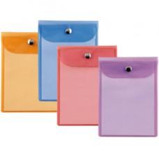 Busta con bottone Press 4 Color - PVC - 12x15,5 cm - colori assortiti - Sei Rota