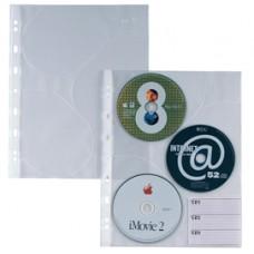 Buste forate Atla CD 3 - 3 tasche - 210x297 mm - Sei Rota - conf. 10 pezzi