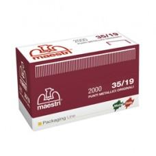 Punti 35/19 per Romabox - rame - altezza 19 mm - Romeo Maestri - scatola da 2000 pezzi