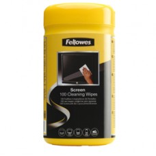 Salviette pulisci schermo - Fellowes - conf. 100 pezzi