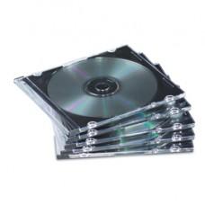 Custodia per CD Jewel Case Slim - trasparente - Fellowes - scatola 25 pezzi