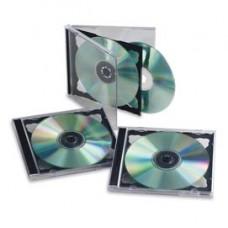 Custodia doppia per CD/DVD - nero - Fellowes - scatola 5 pezzi