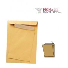 Busta a sacco avana - serie Largemail - soffietti laterali - strip adesivo - 300 x 400 x 40 mm - 120 gr - Pigna - conf. 250 pezzi