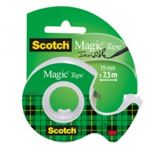 Nastro adesivo Scotch  Magic 810 con chiocciola - 19 mm x 7,5 mt - trasparente - Scotch