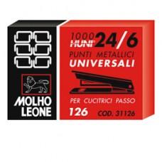 Punti 126 - 24/6 - metallo - Molho Leone - conf. 1000 pezzi