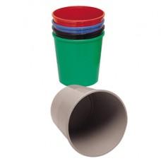 Cestino gettacarte - altezza 32,5 cm - diametro 29,5 cm - 15 lt - nero - Presbitero