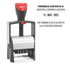 Timbro Datario Classic Line 2660 - autoinchiostrante - 37x58 mm - 7 righe - Colop