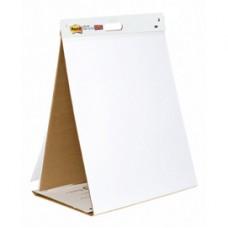 Blocco/Lavagna da tavolo Super Sticky autoportante - 20 fogli in carta riciclata - 58,4x50,8 cm - bianco - Post it