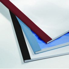Cartelline termiche Business Line - 6 mm - leather nero - GBC - scatola 100 pezzi