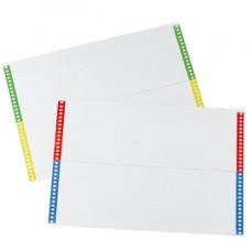 Cartoncini per cartelle sospese - cassetto - 28 cartoncini per foglio - 31 cm - Bertesi - conf. 10 fogli