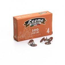 Puntine - n.4 - acciaio lucido - Leone - conf. 100 pezzi