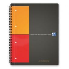 Blocco spiralato International Activebook - 1 rigo con margine - 240 x 297mm - 80gr - 80 fogli - Oxford