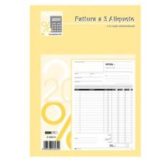 Blocco fatture 3 aliquota Iva - 50 fogli 2 copie autoricalcanti - 29,7 x 21cm - Edipro